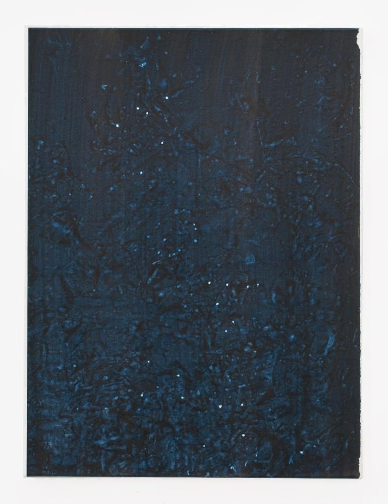 Untitled, 2017, Acryl, Pigment auf Papier auf Nessel, 80x60cm_1